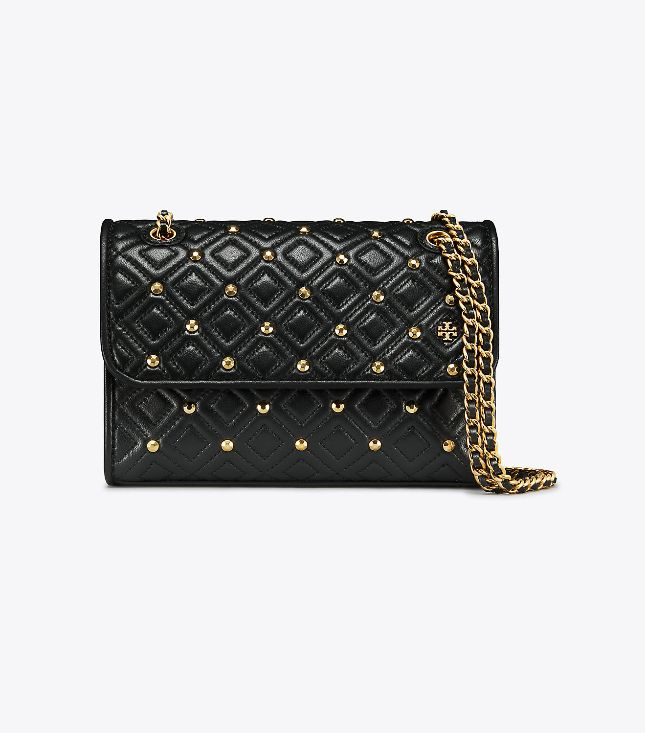 Tory Burch Tory Burch Fleming Stud Small Black Shoulder Bag