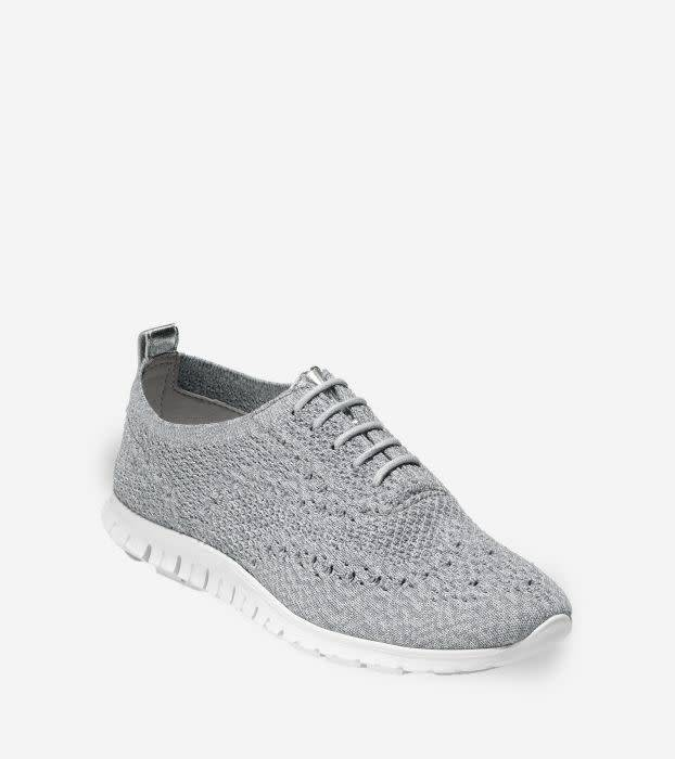 Cole Haan Cole Haan Zerogrand Wingtip Oxford With Stitchlite Vapor Grey/Ironstone Knit/Optic White Casual Shoe