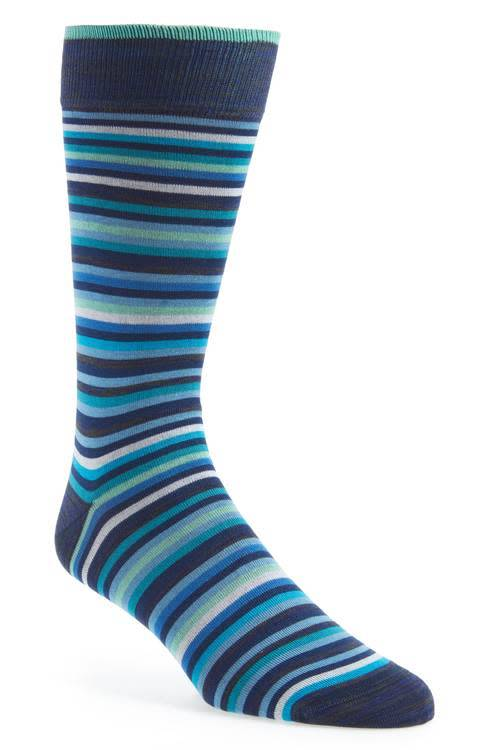 Bugatchi Bugatchi Classic Blue Sock