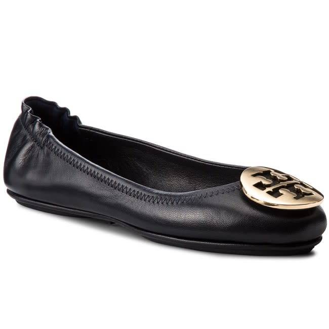 Tory Burch Tory Burch Minnie Travel Ballet Perfect Navy Flat