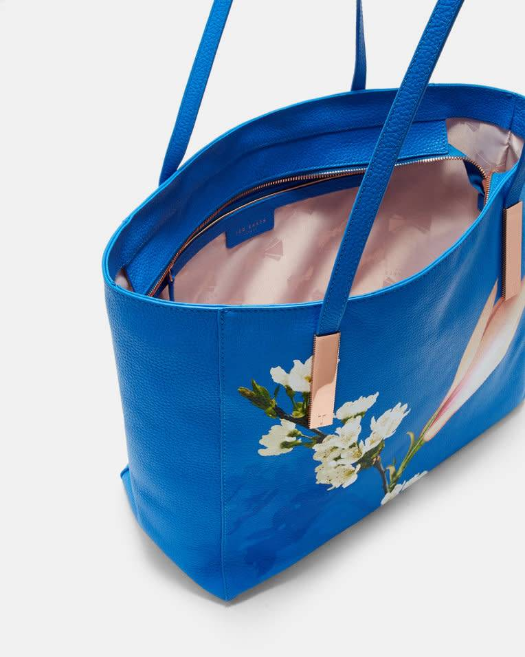 Ted Baker Ted Baker Haanaa Harmony Soft Grain Bight Blue Large Tote