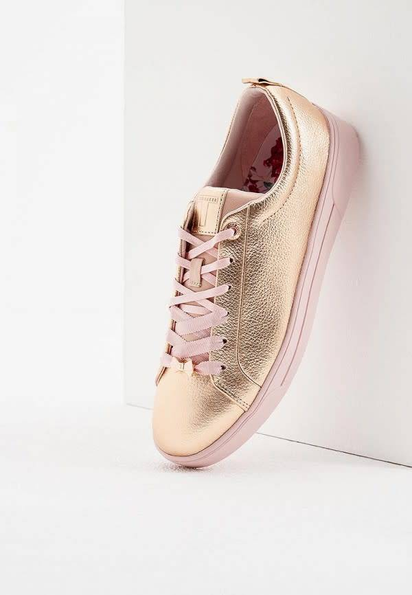 Ted Baker Ted Baker Gielli Rose Gold Casual Shoe