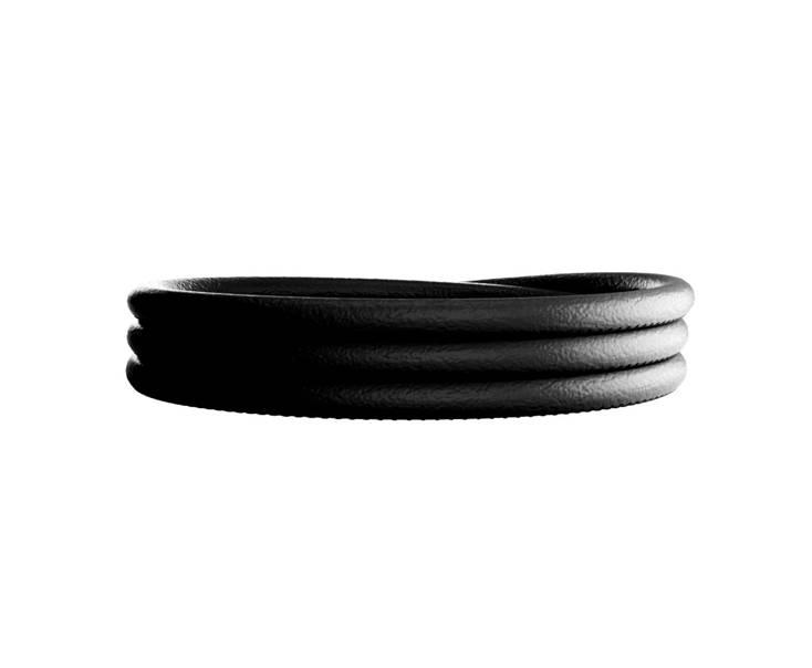 Rebecca Triple Wrap Leather Bracelet Black