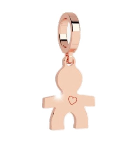 Reb charm pendant boy with heart rose gold vinette rose rebecca boy with heart pendant charm rose gold aloadofball Image collections