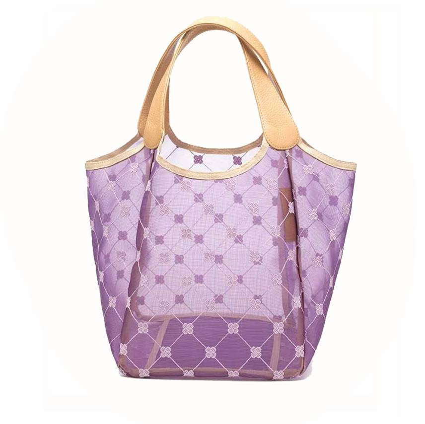 Cruciani Milano City Tulle Bag Small Lilac Violet