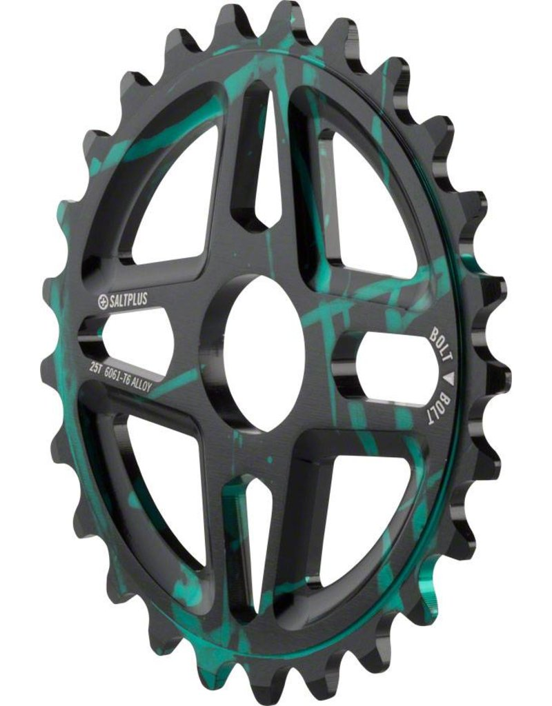 Salt Plus CHAINRING BMX 25 SALT+ CENTER BLK/GRN
