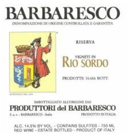 "Cellar Produttori Barbaresco ""Rio Sordo"" 2013"