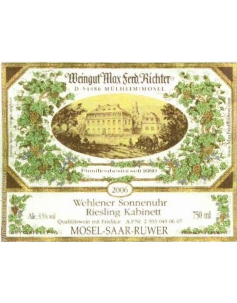 Cellar Weingut Max Ferd. Richter Wehlener Sonnenuhr Riesling Spaltese 2007