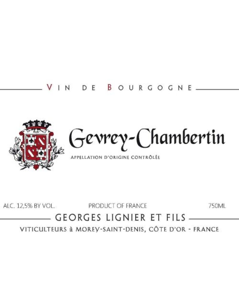 Cellar Georges Lignier et Fils. Gevery-Chambertin 2012