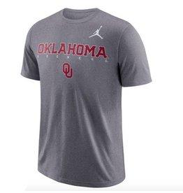 Jordan Men's Jordan Oklahoma Sooners Charcoal Football Dri-FIT Facility Tee
