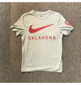 Nike Youth Nike DriFit Cotton DNA Oklahoma Swoosh Dk Heather SS Tee