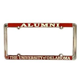Jag Alumni/The University of Oklahoma Raised Letters White/Crimson License Frame