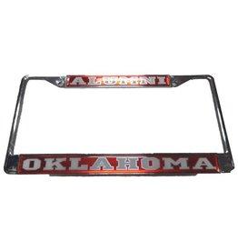 Craftique Craftique Alumni/Oklahoma White/Crimson License Frame