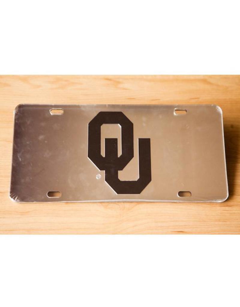 Craftique Craftique OU Black/Silver Mirrored License Plate