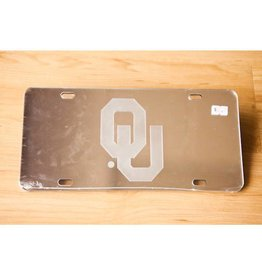 Craftique Craftique OU Frosted/Silver Mirrored License Plate
