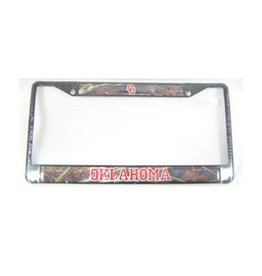 Craftique Craftique OU/Oklahoma Camo/Black License Frame