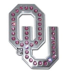 Elektroplate OU Pink Crystals Auto Emblem