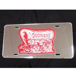 WinCraft Schooner White/Crimson/Silver Mirrored License Plate
