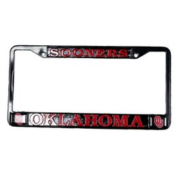Strand Sooners/OU's/Oklahoma Crimson/Black License Frame