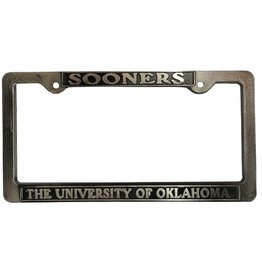 Strand Sooners/The University Of Oklahoma Pewter License Frame