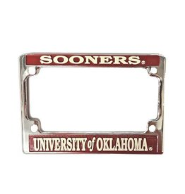 Jag Sooners/University of Oklahoma Motorcycle License Frame