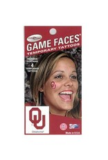 Game Face Game Faces Temporary Tattoo OU Water Based