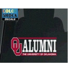 "Color Shock OU Alumni Horizontal Auto Decal 2.1""x6.5"""