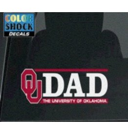 "Color Shock OU Dad Horizontal Auto Decal 2.1""x6.5"""
