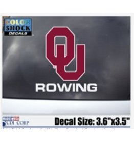 """Color Shock OU Rowing Auto Decal 3.6""""X5"""""""