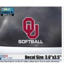 "Color Shock OU Softball Auto Decal 3.6""x3.5"""