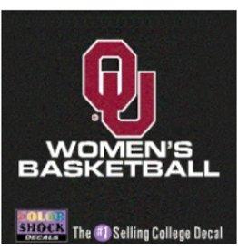 "Color Shock OU Women's Basketball Auto Decal 3.5""X5"""