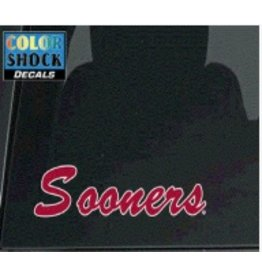 """Color Shock Sooners Script Small Auto Decal 2.1""""x8.5"""""""