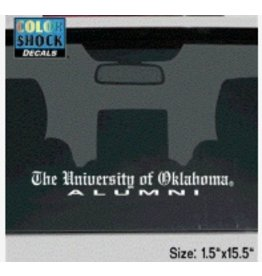 "Color Shock The University of Oklahoma Alumni Old English Auto Decal 1.5""x15.5"""