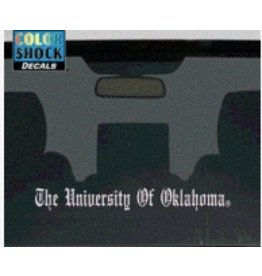 "Color Shock The University Of Oklahoma Old English White Auto Decal 1.5""x15.5"""