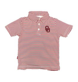 Garb Toddler Carson OU Striped Poly Polo