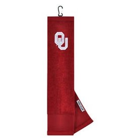 Team Effort OU Embroidered Crimson Golf Towel