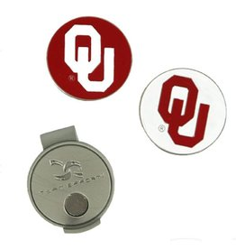 Team Effort OU Hat Clip/Ball Markers Magnetic