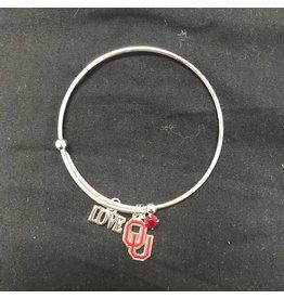Sandol Sandol OU LOVE Silvertone Bracelet
