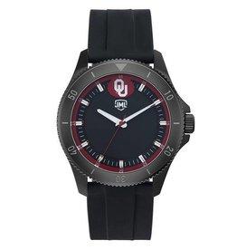 Jack Mason Men's OU Blackout Silicone Band Watch