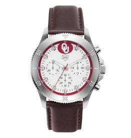 Jack Mason OU Men's Watch with Leather Band