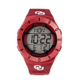 OU Rockwell Crimson Digital Watch with Sport Band