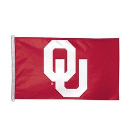 Sewing Concepts OU Crimson/White 3'x5' Applique  Flag (A)