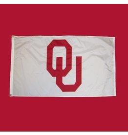 Sewing Concepts OU White 3'x5' Applique Flag (D)