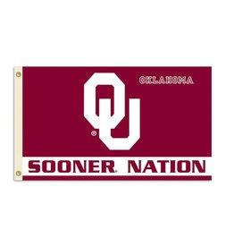 BSI Sooner Nation Premium 3'x5' Flag (I)