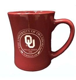 RFSJ Crimson Etched OU Medallion Coffee Mug