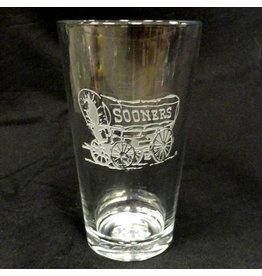 RFSJ Etched Schooner Pint Glass