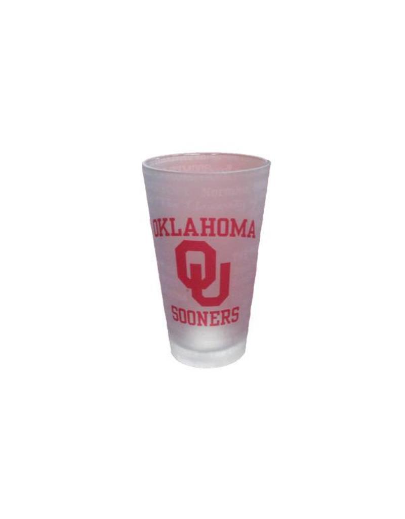 RFSJ Frosted Oklahoma Sooners Pint Glass