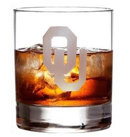 RFSJ OU Etched 12oz Whiskey Glass