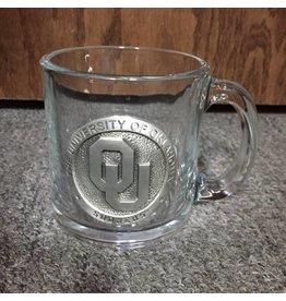 Heritage Pewter OU Pewter Emblem Glass Coffee Mug