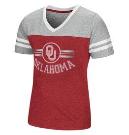 Colosseum Girls Pee Wee Football Tee OU Oklahoma